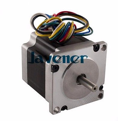 HSTM57 Stepping Motor DC Two-Phase Angle 1.8/3A/1.9V/6 Wires/Double Shaft smdr01 thb7128 3a segment type two phase hybrid stepping motor drives 128 segment 42 60