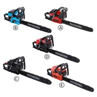 (Ship From DE)58cc Single Cylinder Air Cooled 2 Stroke 20 Inch Gasoline Powered Chainsaw Cutter Chain Saw For Sawing Cutting