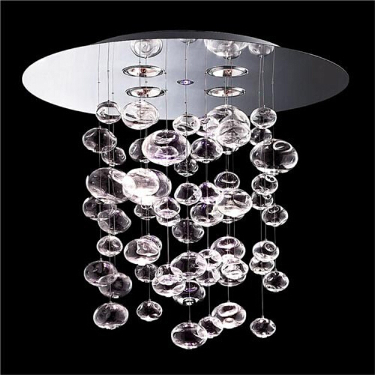 D100 x H86CM Ether 90 S by Patrick Jouin from Leucos Murano Due Bubble Glass Chandelier  ...