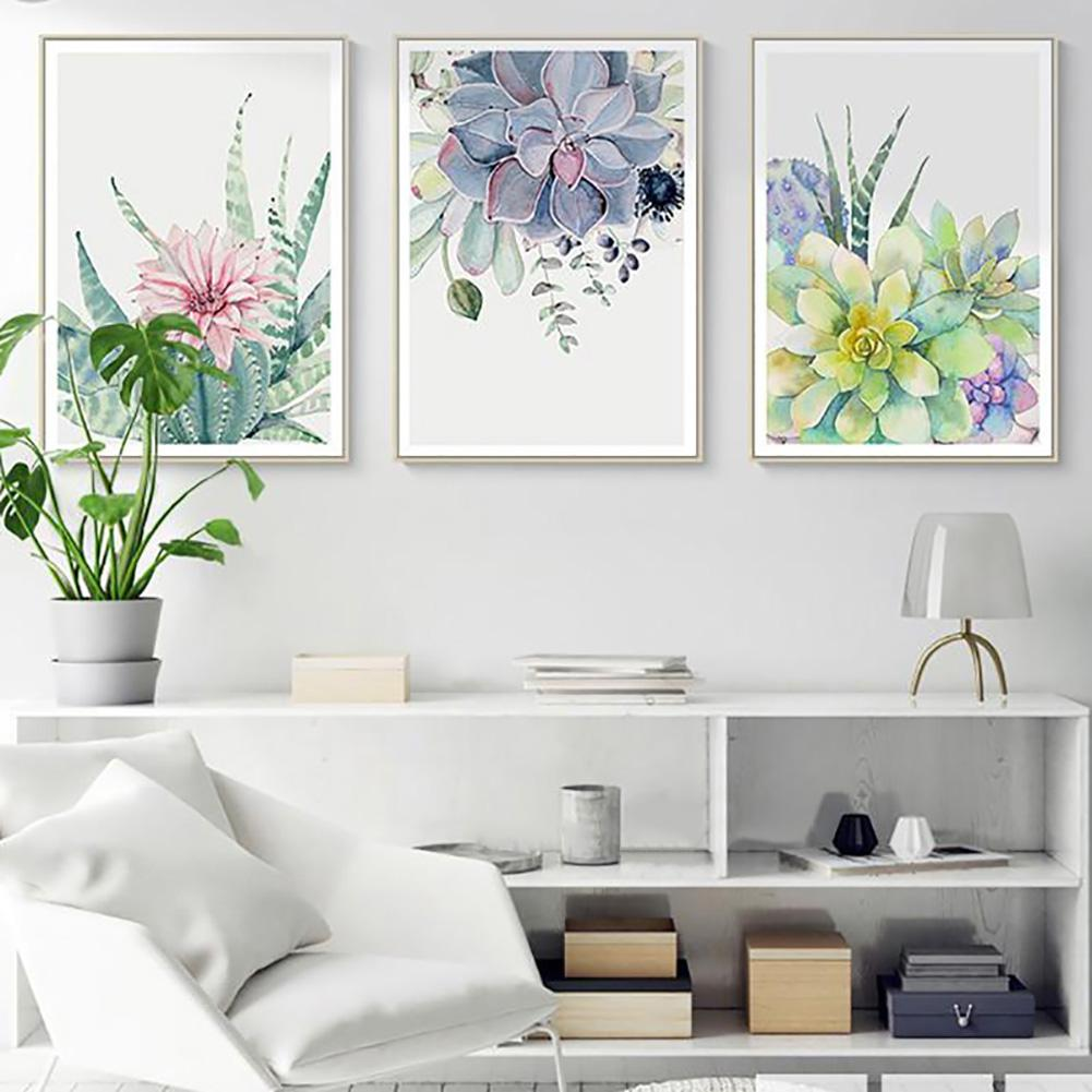 1Pcs Nordic Succulent Plant Unframed Canvas Painting Living Room Fashion Wall Art Poster Home Decoration