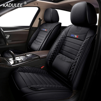 KADULEE Leather car seat cover for mitsubishi pajero 4 2 sport outlander xl asx accessories lancer covers for vehicle seats auto