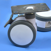 Free Shipping 125mm Furniture Caster Medical Bed Full Plastic Flat Panel Universal Swivel Medical Equipment Wheel
