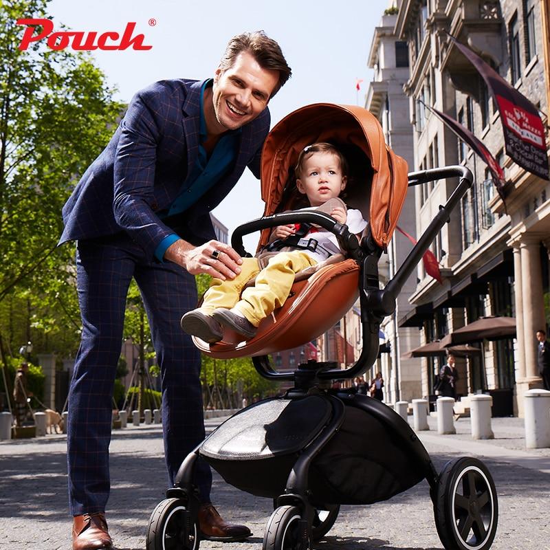 HK free Brand baby strollers 2017 Pouch Stroller 3 in 1 car seat baby sleeping newborn