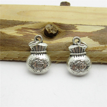 42PCS (15*10mm ) Antique Silver wallet Charms pendant fit European bracelet made diy Pendants for jewelry making