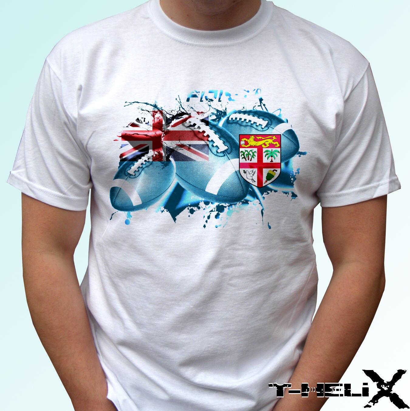 Fiji rugby ball éclaboussures Kids T-shirt Tee Top Cadeau Coupe Du Monde Sport
