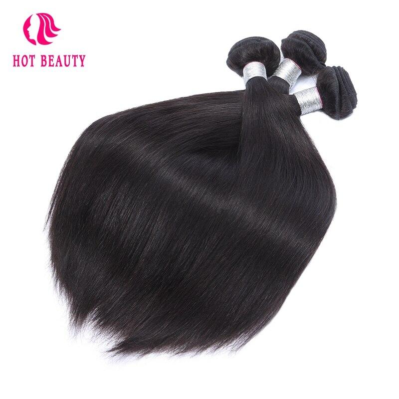 Hot Beauty Hair Malaysian Straight Human Hair 3 Bundles Deal 10-28 Inch Hair Weave Natural Color Free Shipping Remy Hair