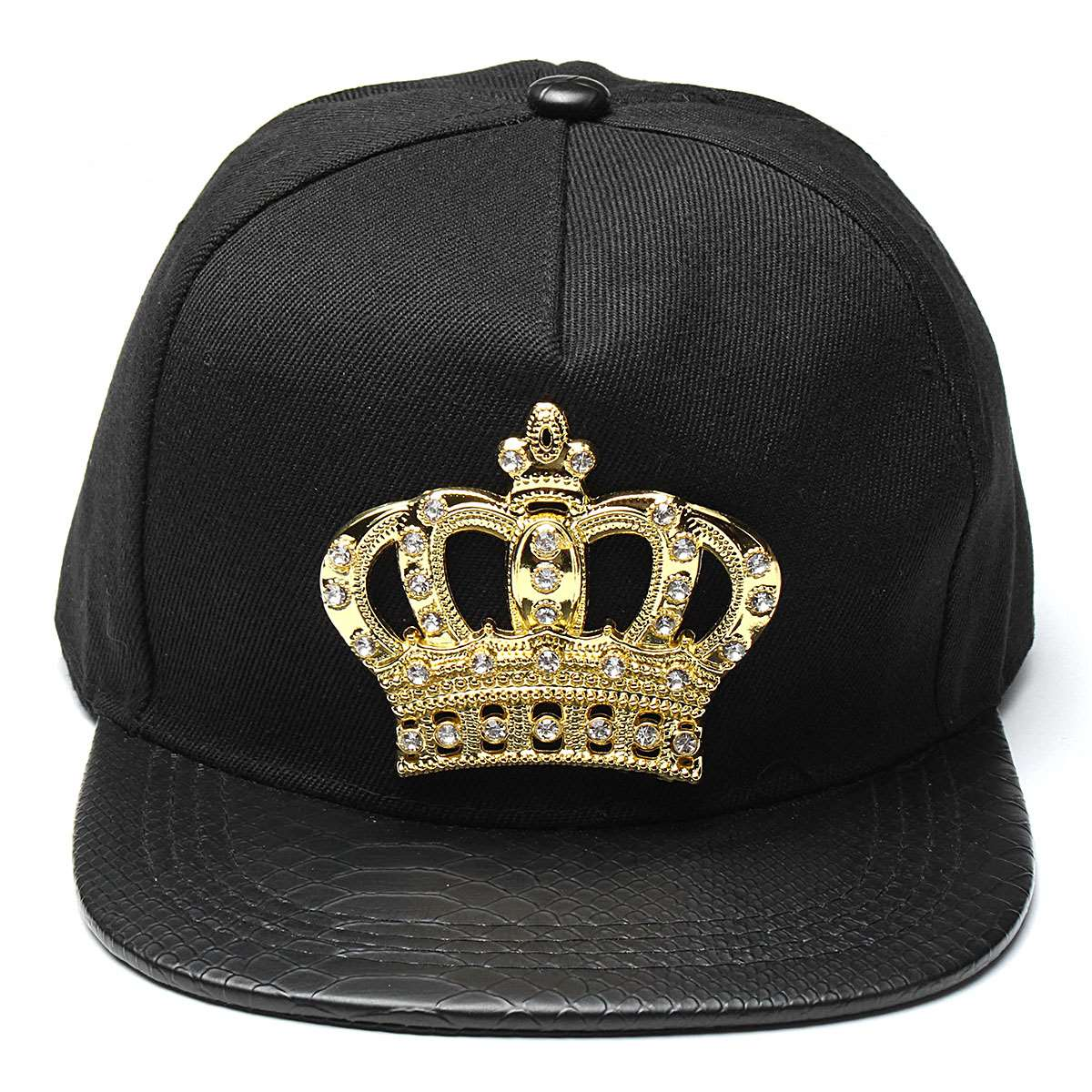 6c63c770f Mens Womens Snapback Hat KING Crown Baseball Caps Adjustable Hip Hop Hats  Black Summer Peaked Rhinestone Crystal Sun Cap-in Baseball Caps from  Apparel ...