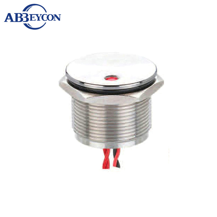 Abbeycon Red Green Illuminated light Dot LED 22mm Stainless momentary 12V/24V electrical Wire Finger Touch piezo switch
