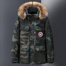 2019 Duck Down Jacket Men Thick Warm Winter Windproof Jacket Men Down Coat Fur Hooded Outerwer Canada Coats Winter Jacket Women стоимость