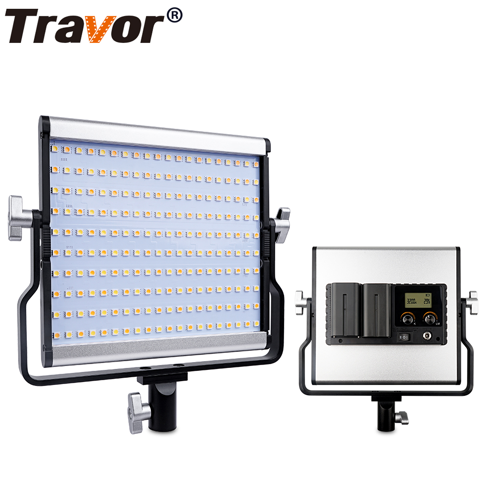 все цены на Travor L4500 Bi-color LED Camera Video Light video photography Light+AC Power Adapter with Large LCD display carry bag онлайн