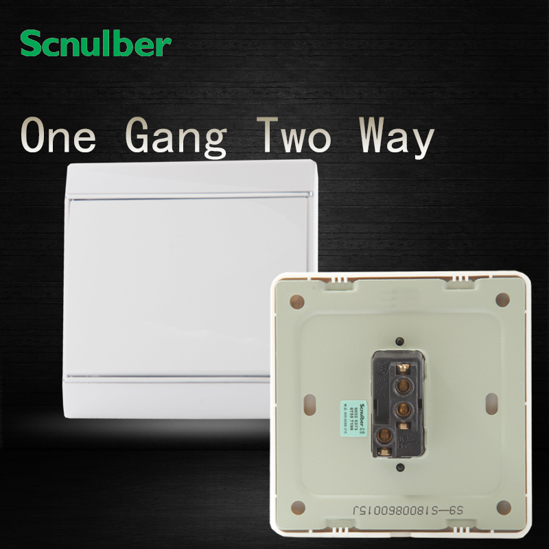 chrome plating plastic cover white chrome plated 16A 220V 1 gang 2 way wall light switch