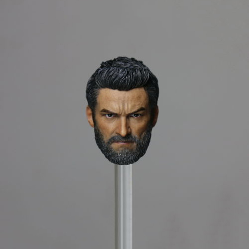 1/6 Wolverine Head Sculpt Old Hugh Jackman Logan X-men For 12 Inches Figure Body 1 6 male head sculpt old logan head carving for 12 muscular body figure collections
