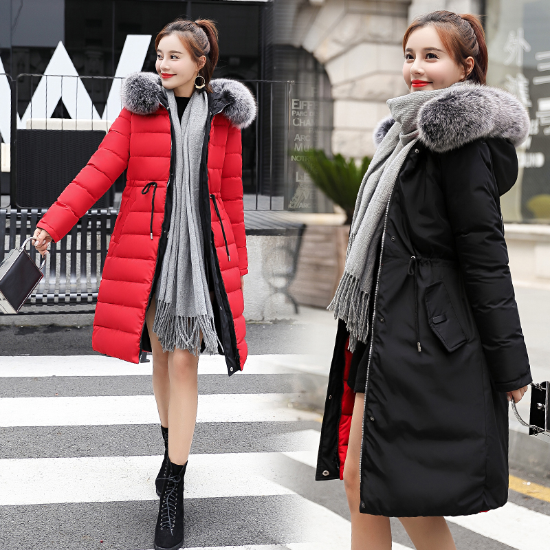 Double Two Sides 2019 New Winter Jacket Women Warm Thicken Hooded With Fur Female Long   Parka   Female Coat High Quality