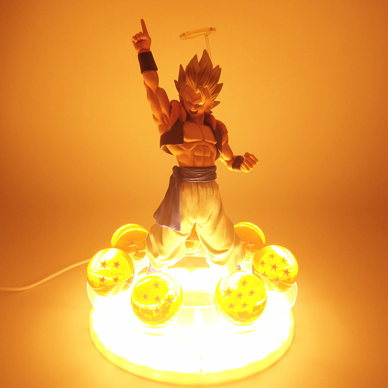 dragon ball LED Base & Shenron Goku Gohan Vegeta Gogeta DBZ Balls with Shelf Shenron <font><b>Figure</b></font> <font><b>Set</b></font> DBZ <font><b>Dragonball</b></font> Collectible Model image