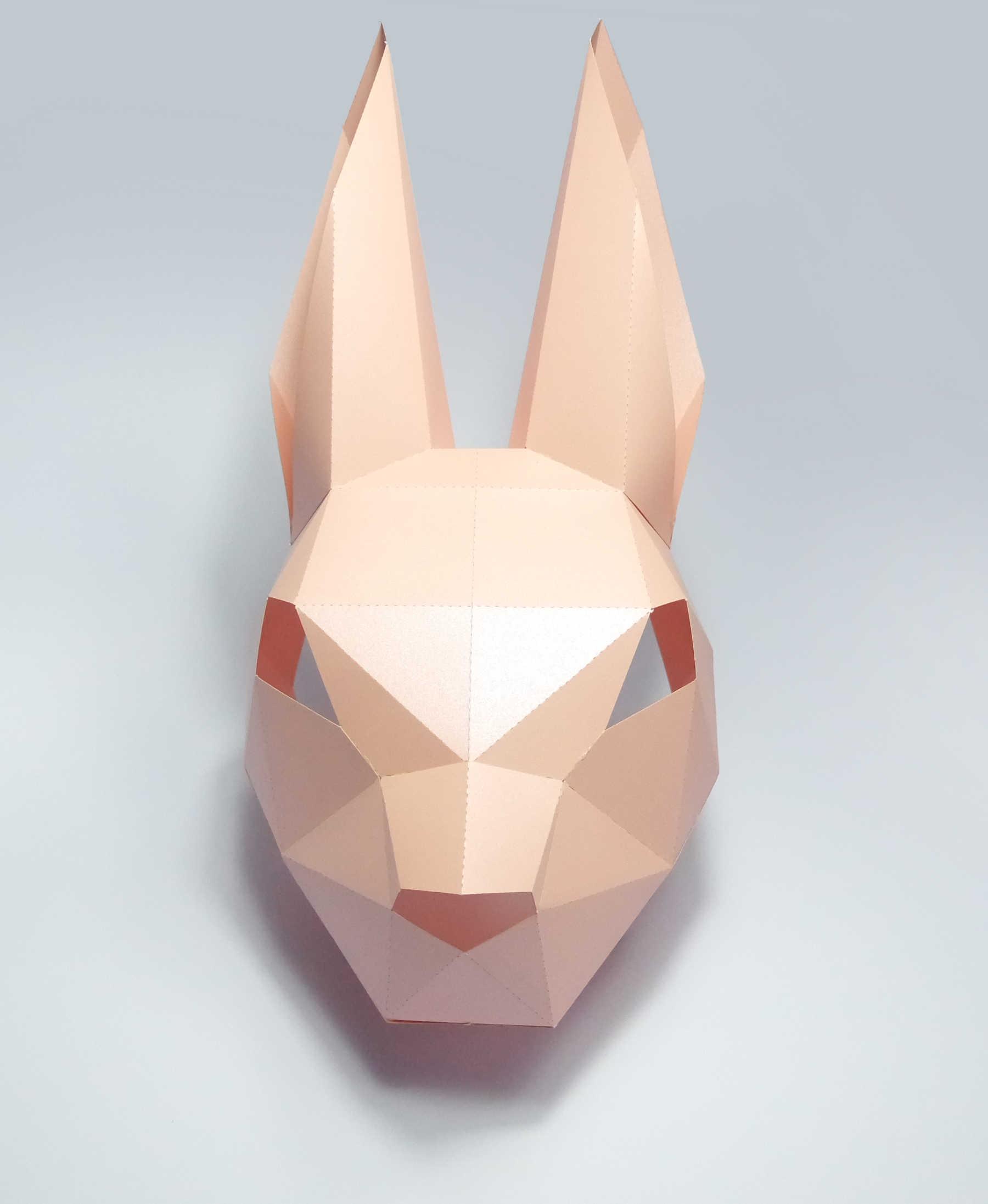 ثلاثية الأبعاد قناع ورقي موضة الأرنب الأرنب الحيوان حلي تأثيري DIY بها بنفسك ورقة كرافت نموذج قناع عيد الميلاد هالوين حفلة موسيقية هدية
