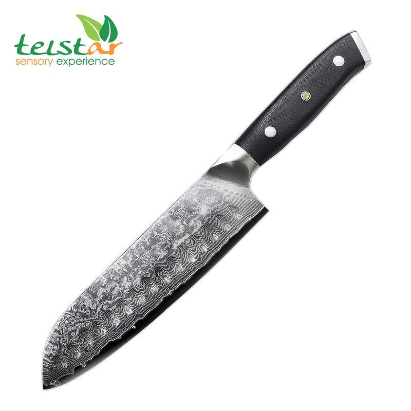 Couteau à épée japonais de 7 pouces 67 couches couteau de chef en acier damas japon couteau à viande légumes Mult vg10 couteau Santoku damas