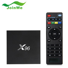 X96 TV Box Amlogic S905X Android 6.0 Set-top Boxes Quad Core 2.4 GHz WiFi HDMI 2.0 avec USB 2.0 AV LAN TF Fente Pour Carte pk X92 Tv boîte