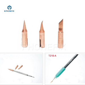 Image 4 - PHONEFIX JBC T210 سبيكة لحام تلميح T SK T I T IS استبدال صغيرة لحام الحديد نصائح ل الهاتف المحمول PCB لحام إصلاح