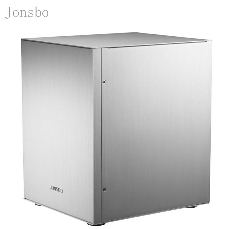Jonsbo C2 Silver Aluminum Mini ITX MATX computer Case USB3.0  game small chassis  C2S Black HTPC ITX  support 3.5'' HDD USB3.0 H realan aluminum mini itx desktop pc case e i7 with power supply cd rom slots black silver