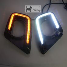 car styling For Dodge Journey 2015 2017 LED DRL Daytime Driving Running Lights Daylight with turn signal For Fiat Freemont 2014