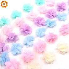 3Yard/Lot 3D Chiffon Cluster Flowers Fringe Lace Trim Lace Ribbon Sewing Organza Fabric DIY Applique Dress Accessaries Supplies(China)