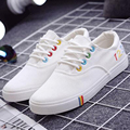 2017 Summer New Style Women Canvas Shoes Flat Casual Low Cut Lace Shoes Student Shoes White Cloth Shoes 29 ZYH