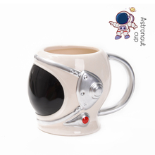 Porcelain-Mugs Astronaut-Helmet Handgrip Tea Cups Tumbler Ceramic Gifts Office Creative