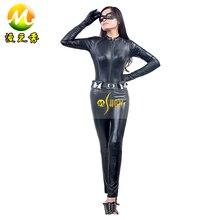 The Dark Knight Rises Batman Cosplay Halloween de Selina Kyle Faux Leather Cat Mono Superhéroe Traje de Las Mujeres