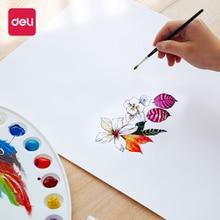 Deli 8K 160g 20Sheets Sketch Paper Gouache Paint Watercolor Drawing Color Lead For Art Beginner