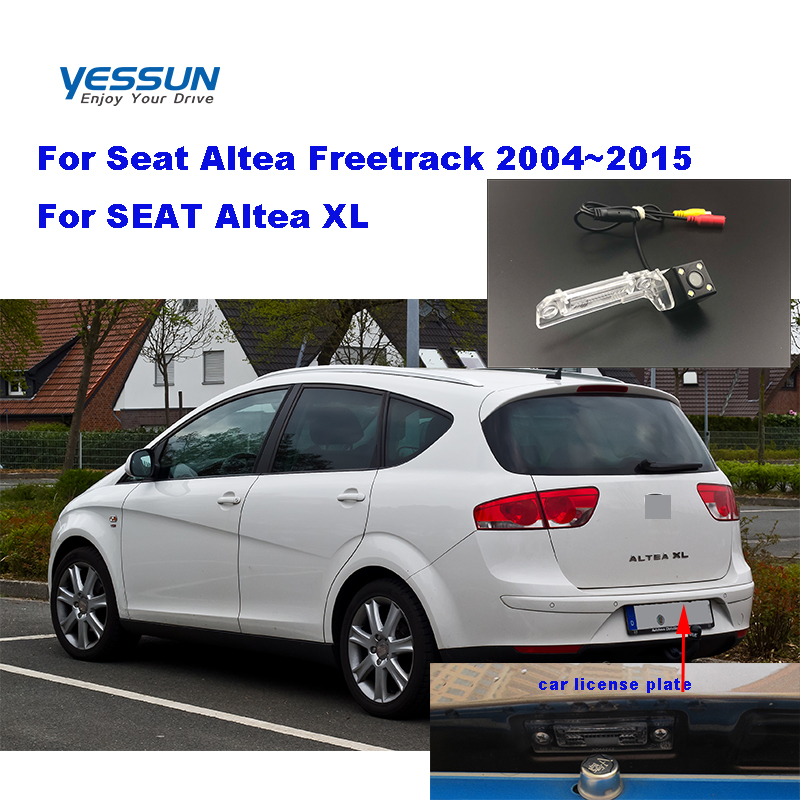 Yessun License Plate Camera  For Seat Altea Freetrack 2004~2015 SEAT Altea XL  Car Rear View Camera Parking Assistance