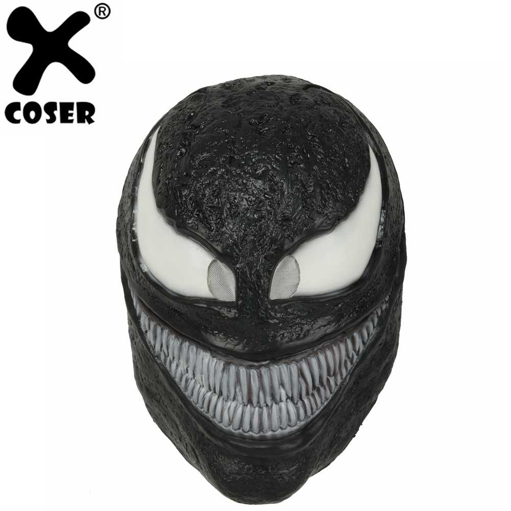 Xcoser Spider Man Movie Venom Mask Latex Cosplay Dark Superhero