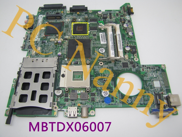 MBTDX06007 DA0ZR1MB6D1 Motherboard For Acer Aspire 3680 motherboard 945PM GF-G07300-N-A3 Graphics