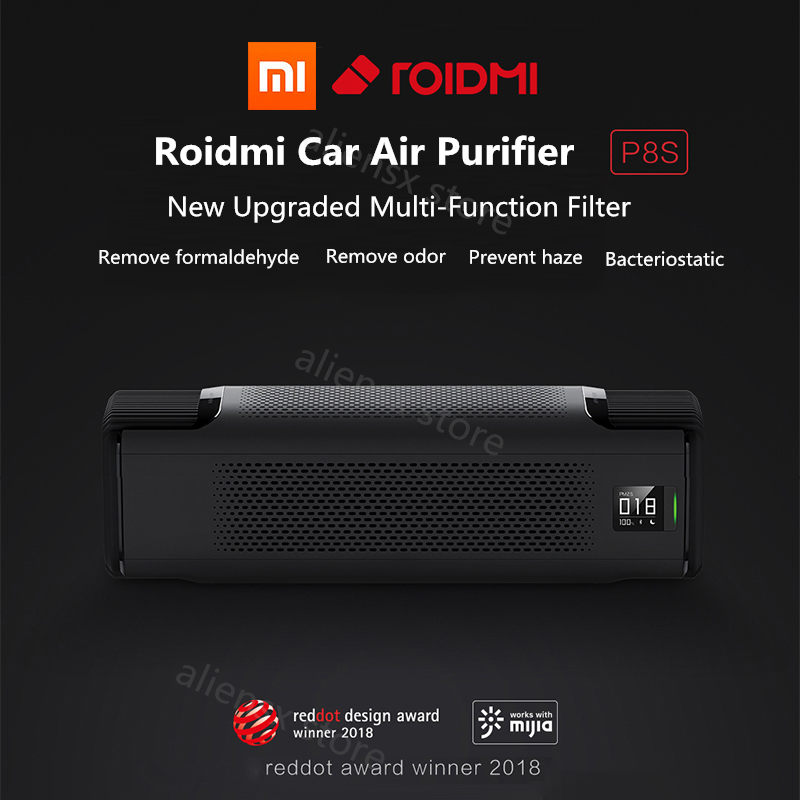 Original Xiaomi Roidmi Car Charger Air Purifier P8S 2 Min Fast Purification Remove Formaldehyde Haze PM2.5 APP Control