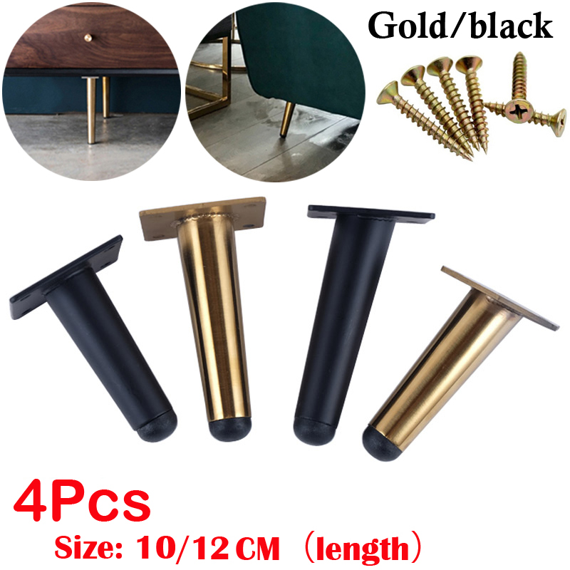 4Pcs Stainless Furniture Table Legs TV Cabinet Foot Sofa Leg Hardware Cabinet Feet 10/12CM Load 900KG Tapered Leg