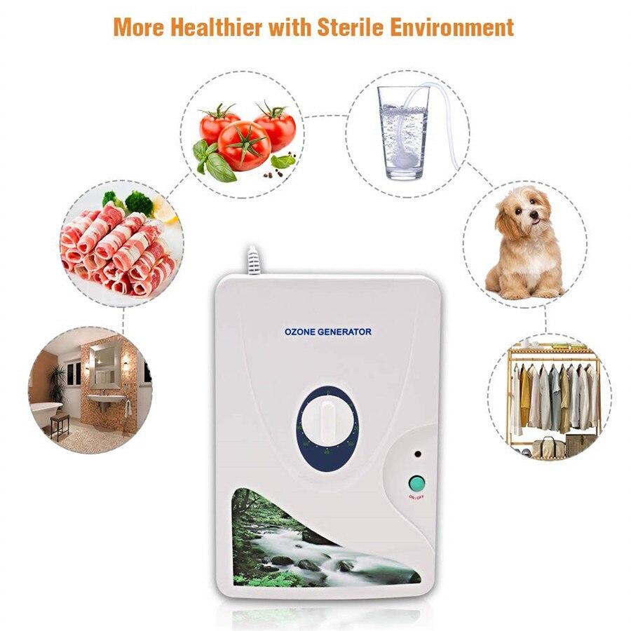 LUCOG High Quality Ozone Generator Ozonator Air Purifier Wheel Timer Vegetable Fruit Meat Air Ionizer Sterilizer 220V Or 110V