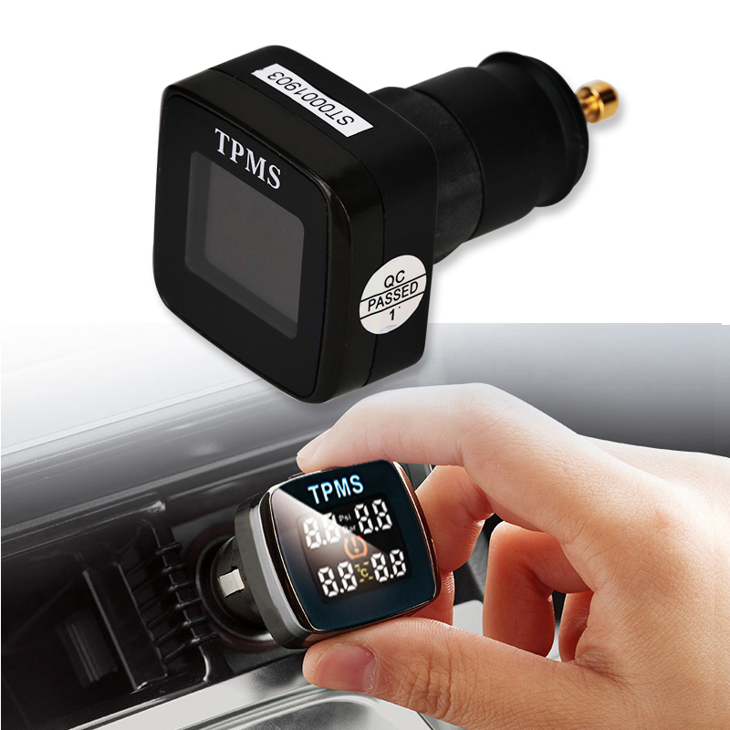 Universal Smart TMPS Car Auto Wireless Tire Tyre Pressure Alarm Monitor System With  LCD Display  + 4 External Sensors wireless pager system 433 92mhz wireless restaurant table buzzer with monitor and watch receiver 3 display 42 call button