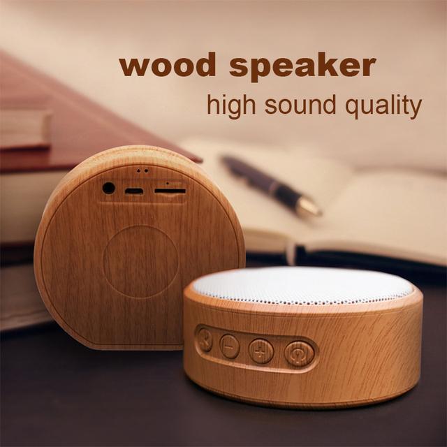 Wood Grain Wireless Bluetooth Speaker