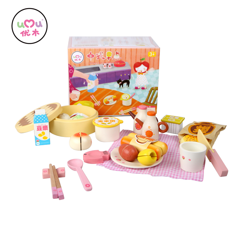 [Umu] Chinese Style-Breakfast Time Wooden Toys For Children Kitchen Cooking Utensils Cutlery Sets Play House Toys New Arrive[Umu] Chinese Style-Breakfast Time Wooden Toys For Children Kitchen Cooking Utensils Cutlery Sets Play House Toys New Arrive