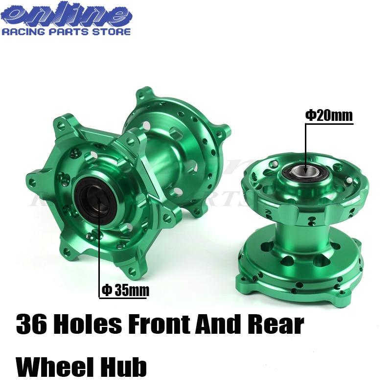 New motorcycle Front Rear 36 holes Complete Billet CNC Wheel Hubs For KAWASAKI KX125 KX250 2006 2008 KX250F KX450F 2006 2018