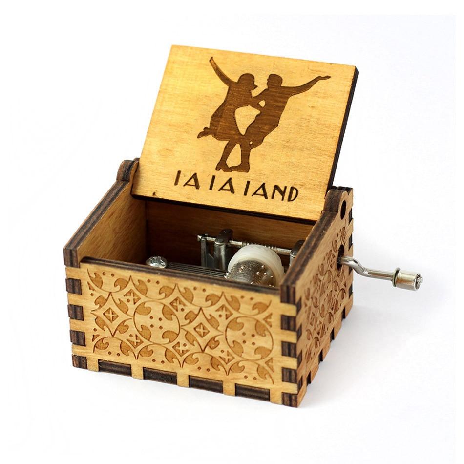 Деревянная музыкальная шкатулка для игры в трон, подарок на Рождество, день рождения, год, подарок для детей - Цвет: La la land