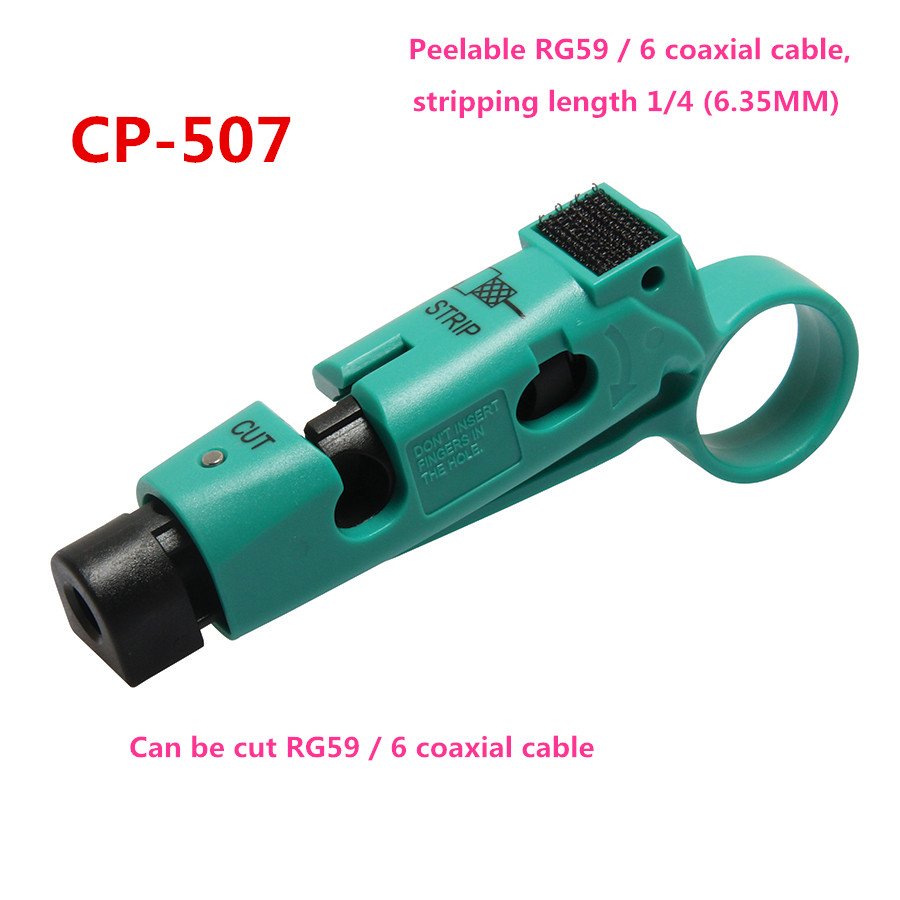 CP-507 Coaxial Cable Stripper Quick Wire Strippers stripping knife (RG-59/6) 6.35MM pro skit cp 505 universal strip tool rg 59 6 11 7 cable stripper wire stripper
