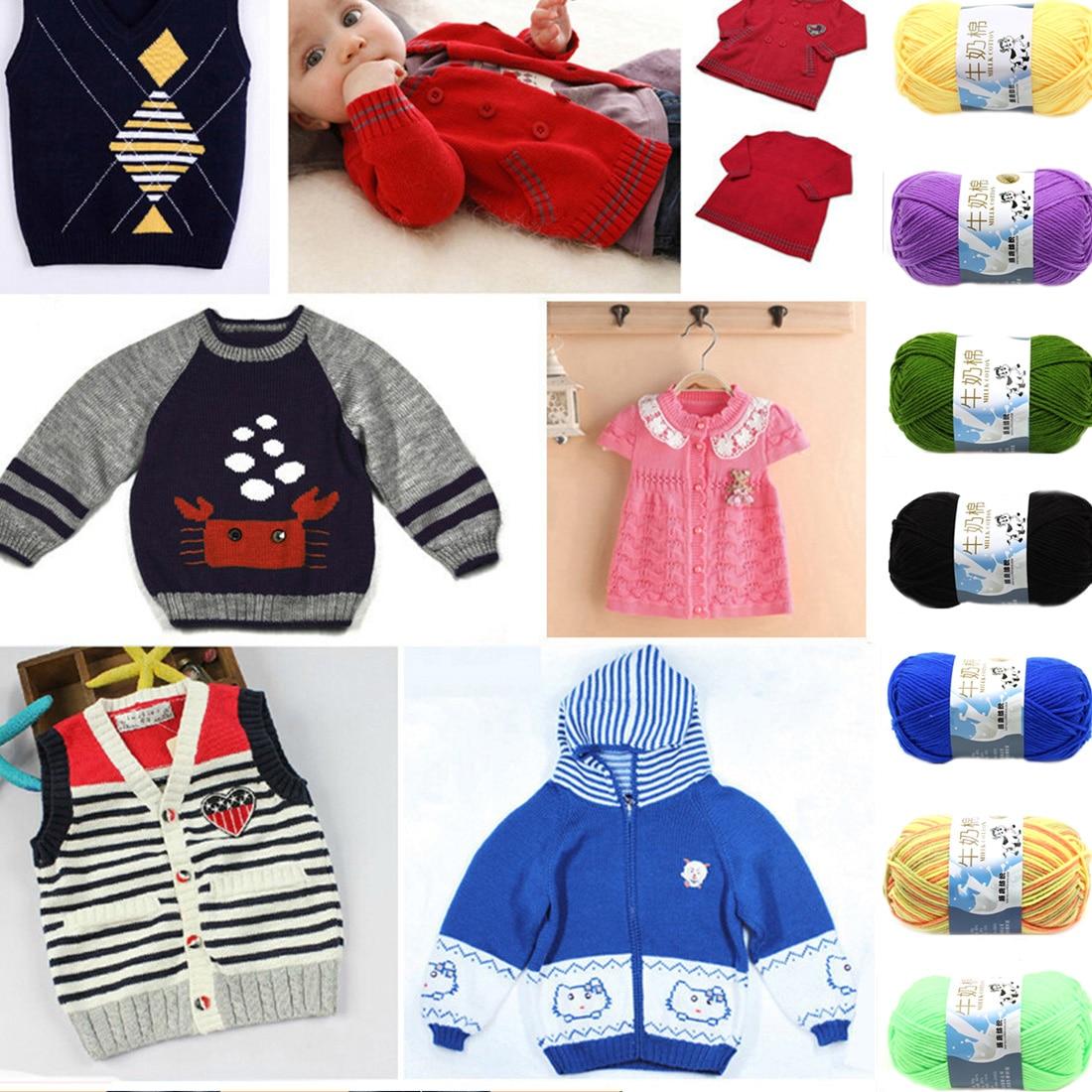 ୧ʕ ʔ୨2016 Nueva creativo DIY leche algodón Hilados de lana de bebé ...