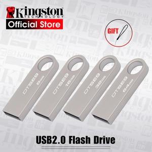Image 1 - Kingston DTSE9 USB Flash Drive Metalen Mini Sleutel USB Stick 8GB 16GB 32GB Geheugen Opslag Stick USB pendrive Flash Pen Drive Geheugen