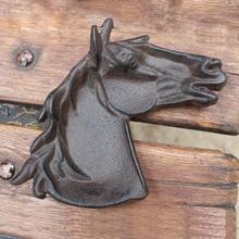 Cast Iron Horse Head Ashtray Tabletop Dish Heavy Equestrian Desk Paperweight Tray поднос tray equestrian 46х34