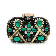 Luxury Brand Design Beaded Flower Clutch Bag 2016 New Women Evening Bag Party Wedding Hand Bag With Chain Purses Wallet 8745