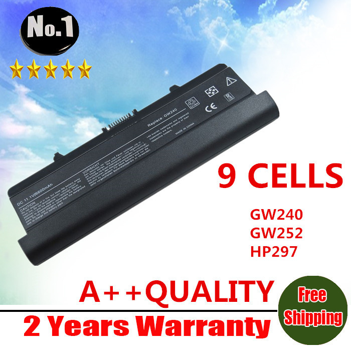WHOLESALE New laptop battery For Dell Inspiron 1525 1526  1545  D608H GP952 GW240  9cells free shipping wholesale new 6 cells laptop battery for dell latitude d620 d630 d630c d631 series 0gd775 0gd787 0jd605 0jd606 free shipping