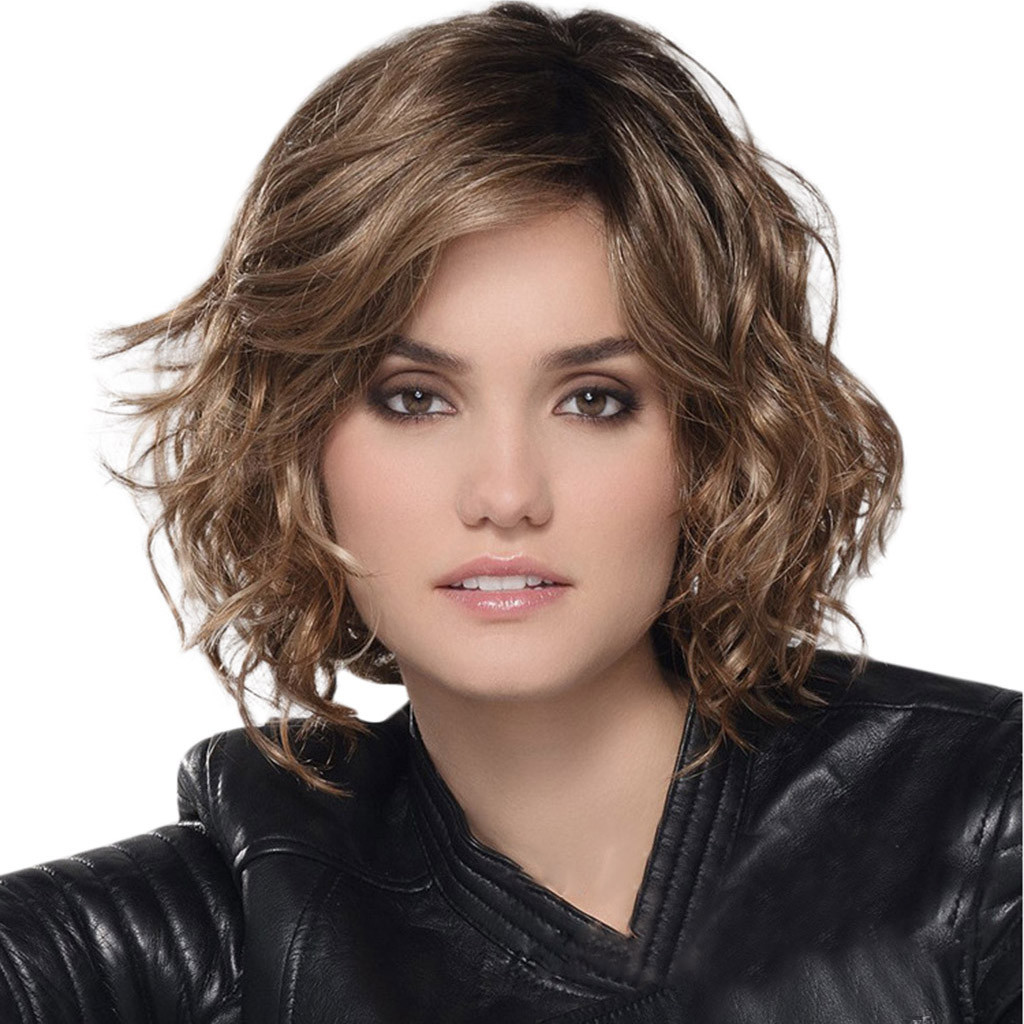 Sale Fashion Synthetic Short Curly Hair Wig Wave Hair