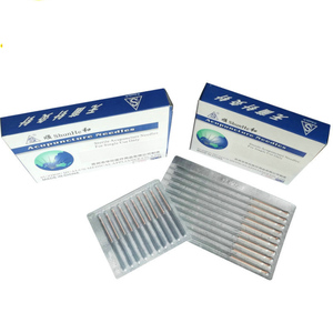 Image 3 - 0.25/0.30/0.35/0.40mm 5*100pcs / box Copper handle Acupuncture Needles Disposable Sterile Chinese Traditional Needles