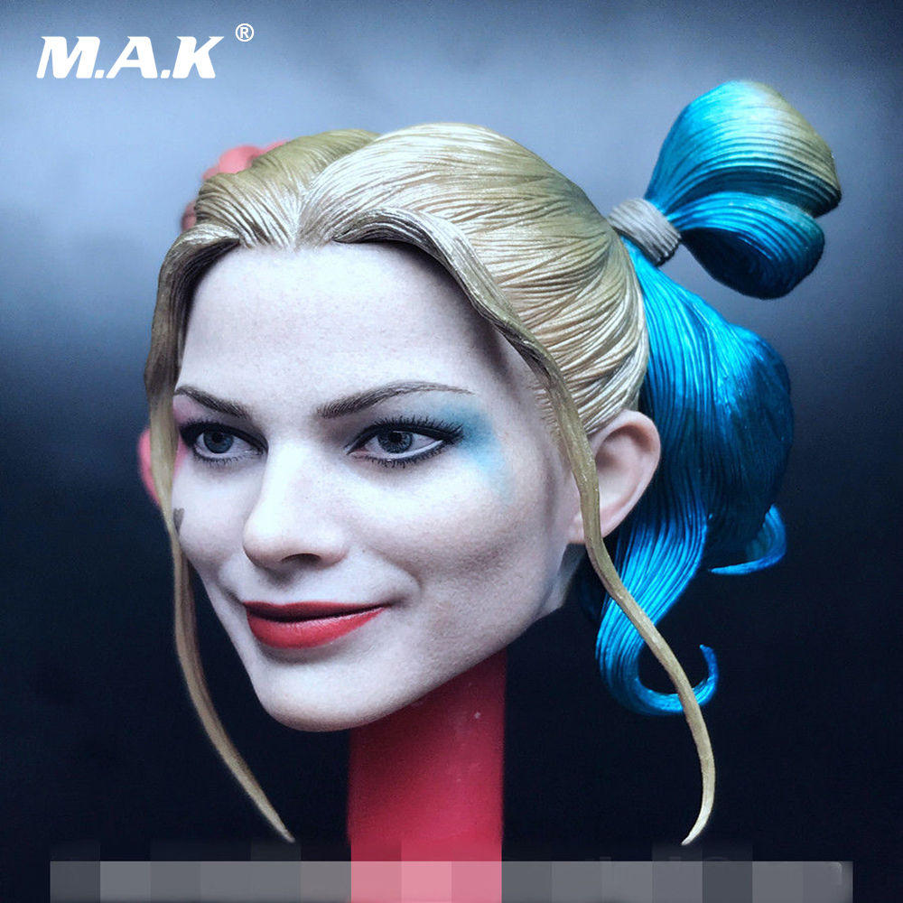 1:6 Female Joker Head Sculpt Carving Prisoner Ver. Harley Quinn Head Sculpt Model Toys for 12 inches Action Figure Body