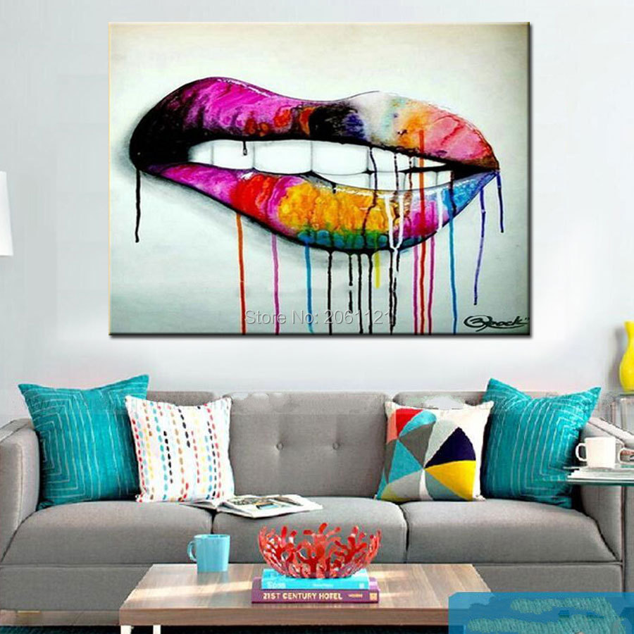 pop art idea wall canvas painting abstract living room decoration ...